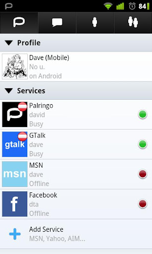 Palringo for android phones