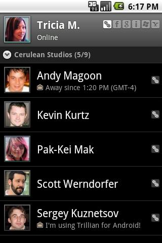 Trillian for android phones