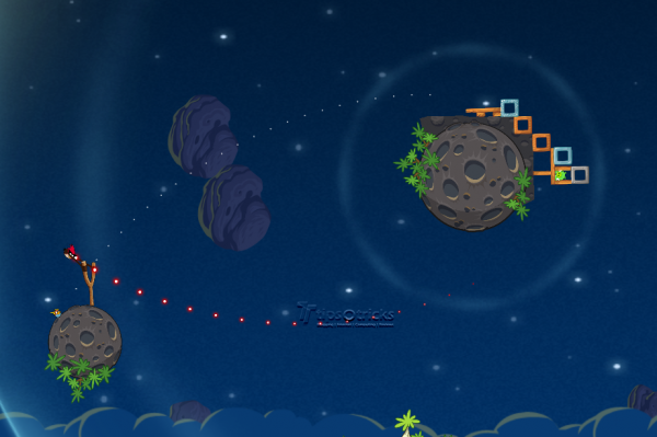 Angry Birds Space Gameplay Target Line