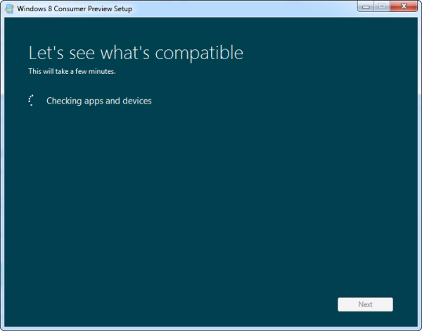 Windows 8 system compatibility check