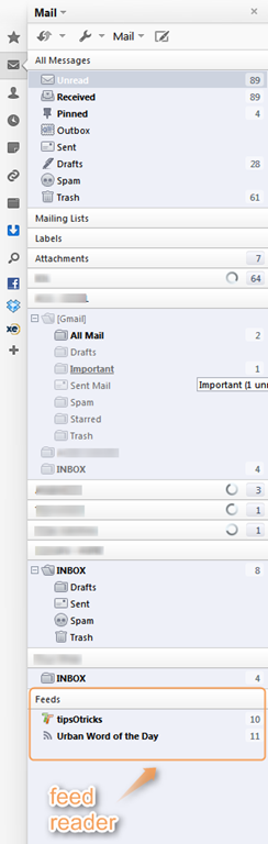 Opera Mail and RSS Feed Reader