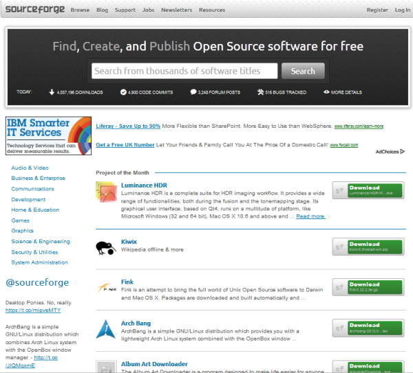 source-forge-open-source-software