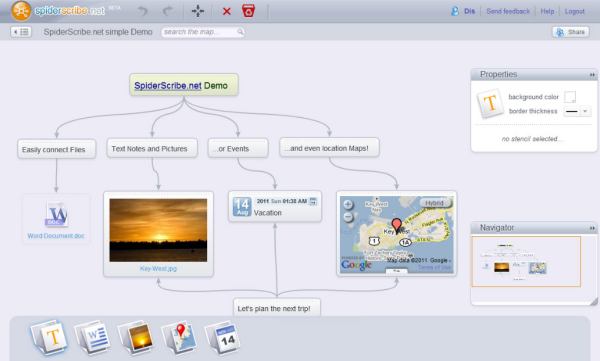 spiderscribe mind mapping tool