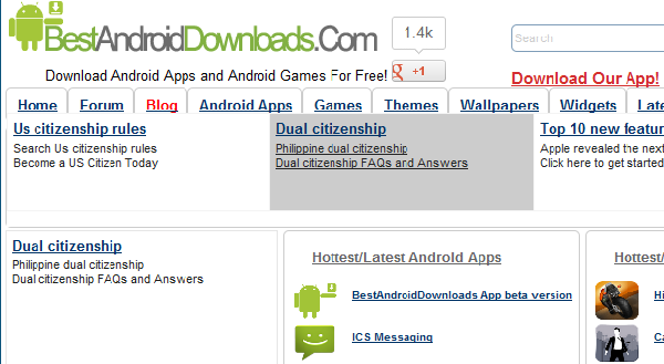 best sites for free android downloads