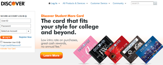 discover card- virtual online account