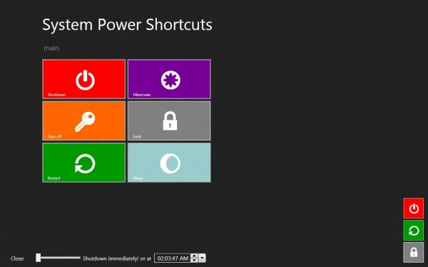 Windows 8 power shortcuts