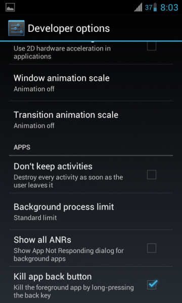 Custom ROM advance settings