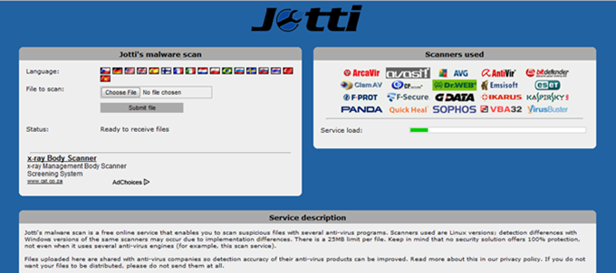 Jotti's Malware Scan : The All In One Online Virus Scanner