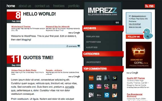 imprezz-wordpress-theme