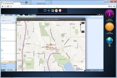 Online VNC Geo location feature