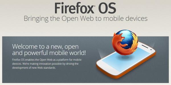 Firefox OS homepage