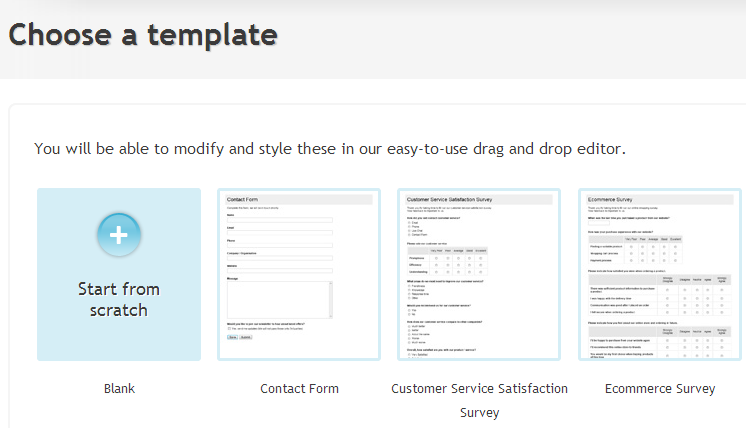 dotSurvey Create Online Survey Questionnaire – Free Survey Templates