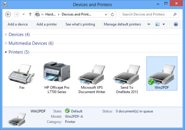Windows 8 printer issue