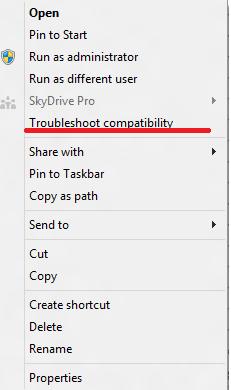 Windows 8 compatibility issue