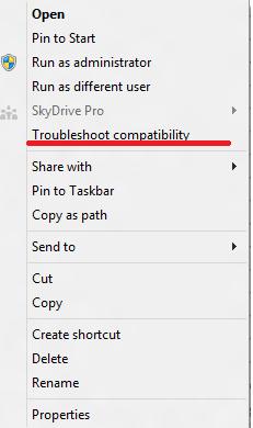 Windows 8 compatibility issue