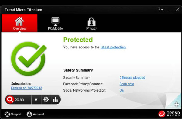 Titanium Antivirus + for Windows 8