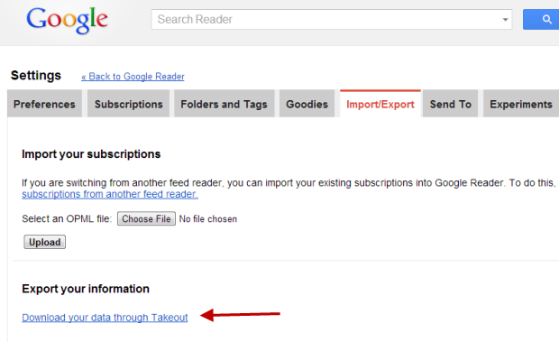 How To Backup RSS Feeds From Google Reader