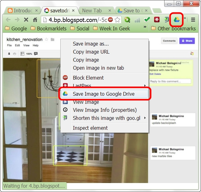 save to Google drive from browser