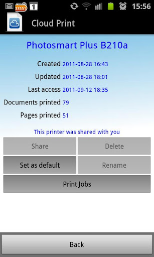 Using Google Cloud Print on Your Android Device