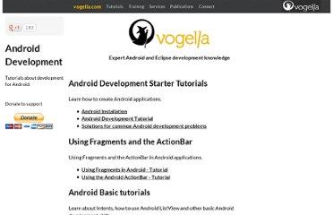 Vogella Android App Tutorials