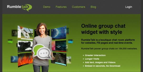 01-RumbleTalk homepage