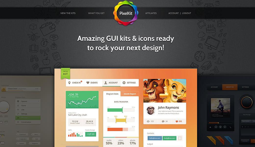 Premium Web UI kits from Pixelkit - Membership Giveaway