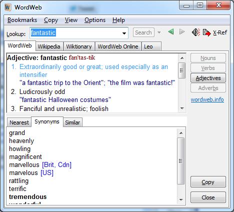 Free Dictionaries for Windows, Free Desktop Dictionary tools, Free Dictionary software,