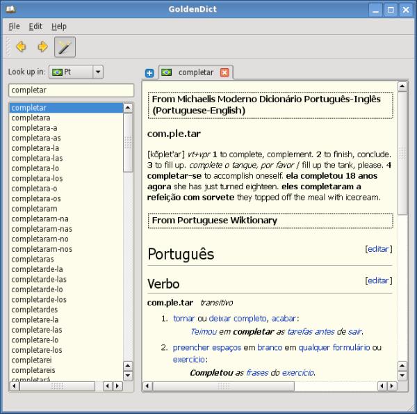 Free Dictionaries for Windows, Free Desktop Dictionary tools, Free Dictionary software, GoldenDict, GoldenDict