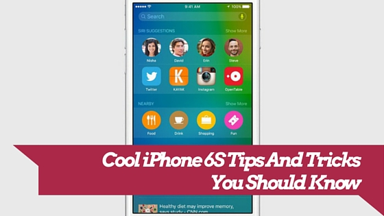 iPhone 6s tricks and tips