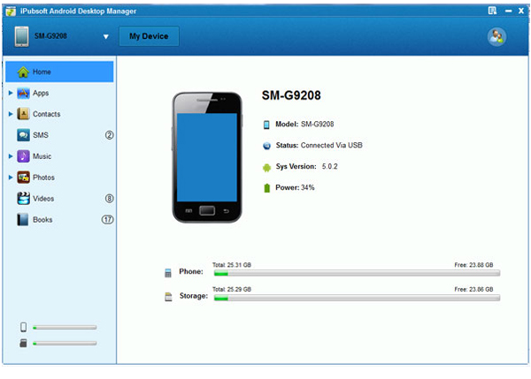android handy software pc