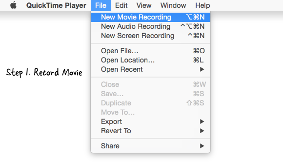 quicktime-video recording
